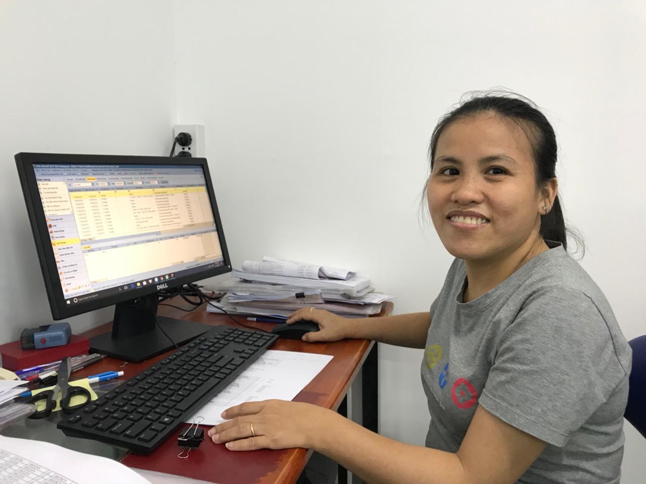 Chị Thu – Kế toán Công ty TNHH Thương mại và sản xuất Kim Thanh Long