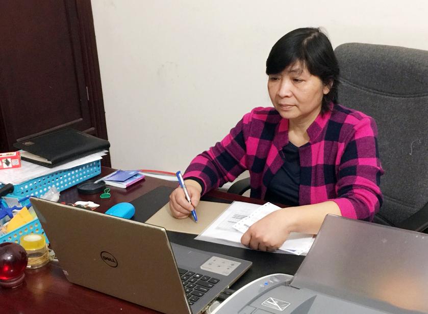 Chị Phạm Thị Ánh Tuyết - Giám đốc Công ty Cổ phần điện T.H.T Việt Nam