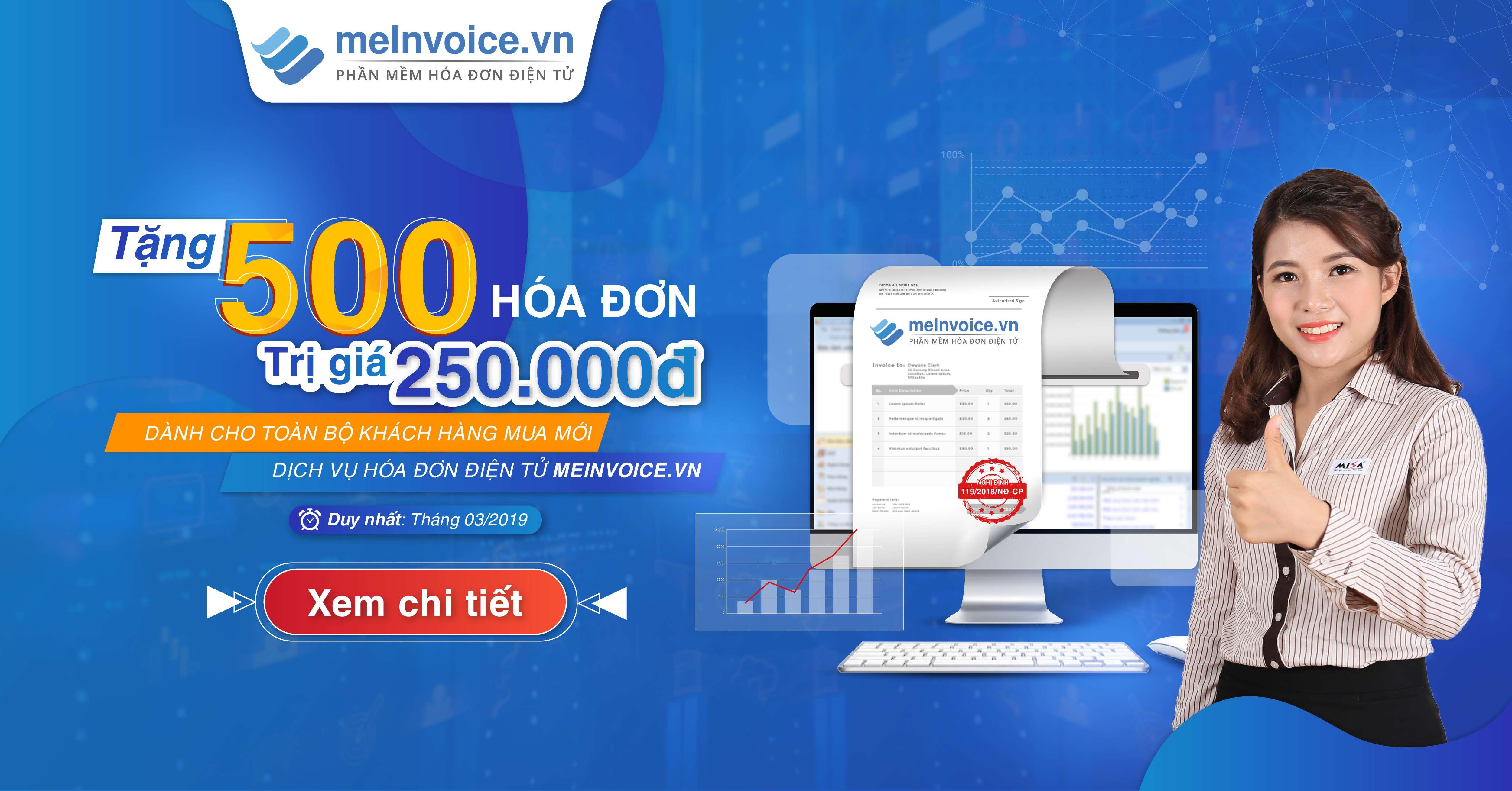 MISA tặng MIỄN PHÍ 500 hóa đơn điện tử