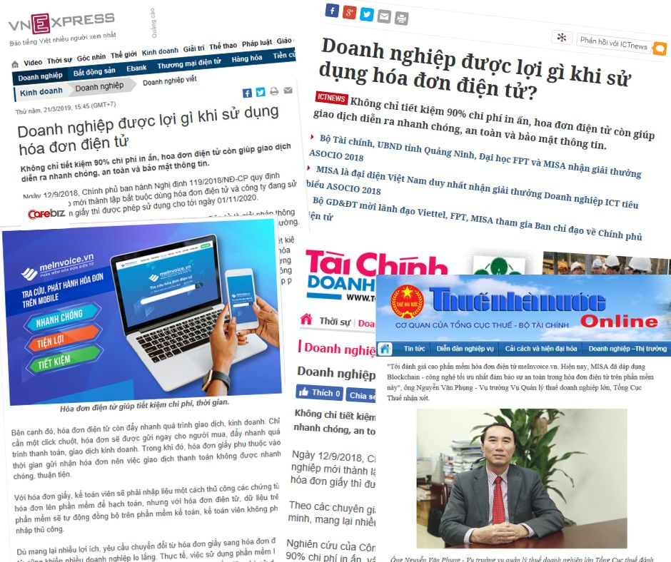 Báo lớn nhấn mạnh lợi ích của hóa đơn điện tử