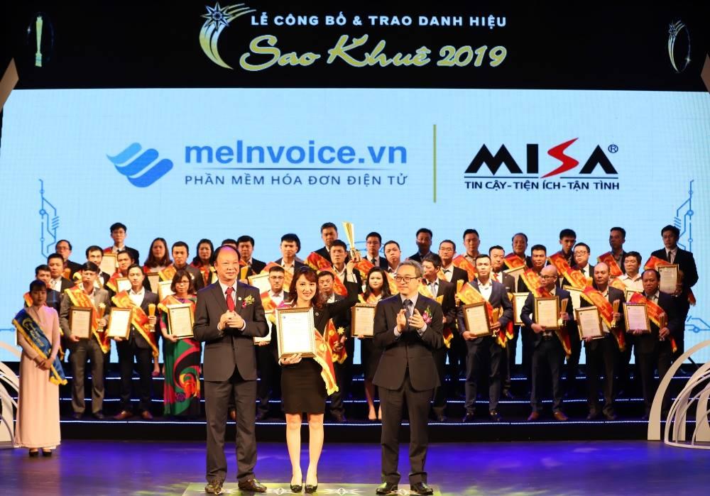 Sao Khuê 2019 cho Phần mềm hóa đơn điện tử MISA meInvoice