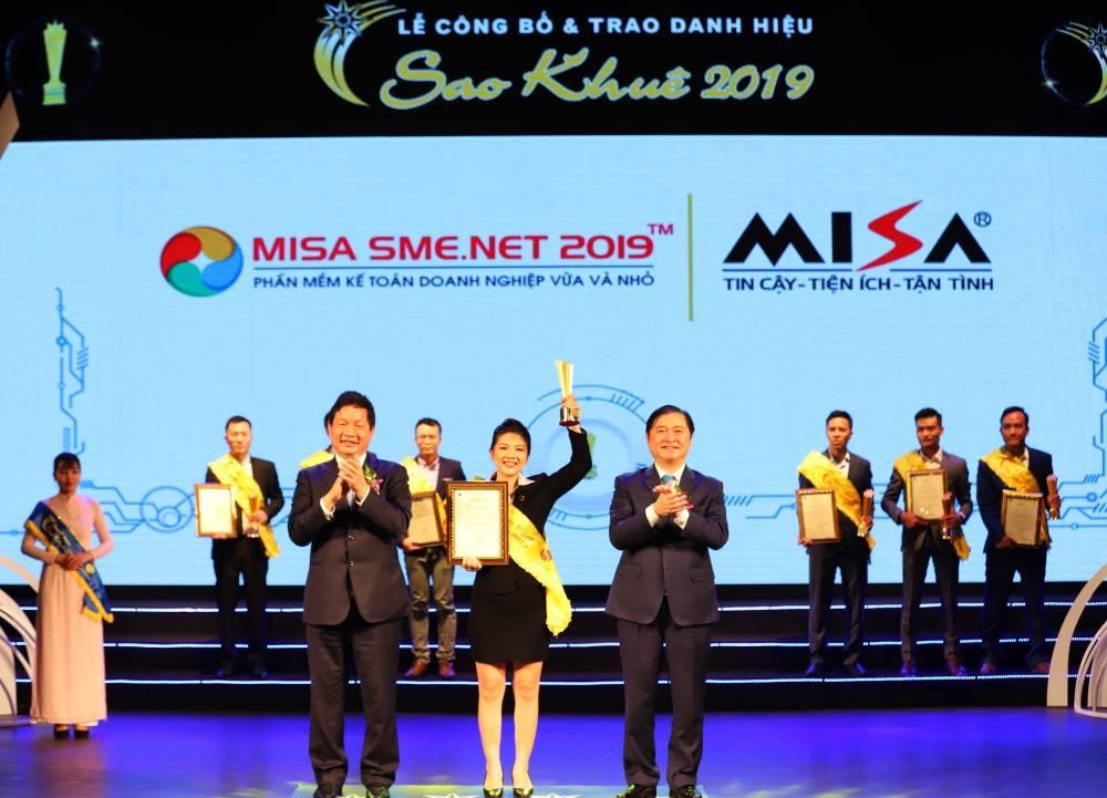 Sao Khuê 2019 cho Phần mềm kế toán MISA SME.NET 2019