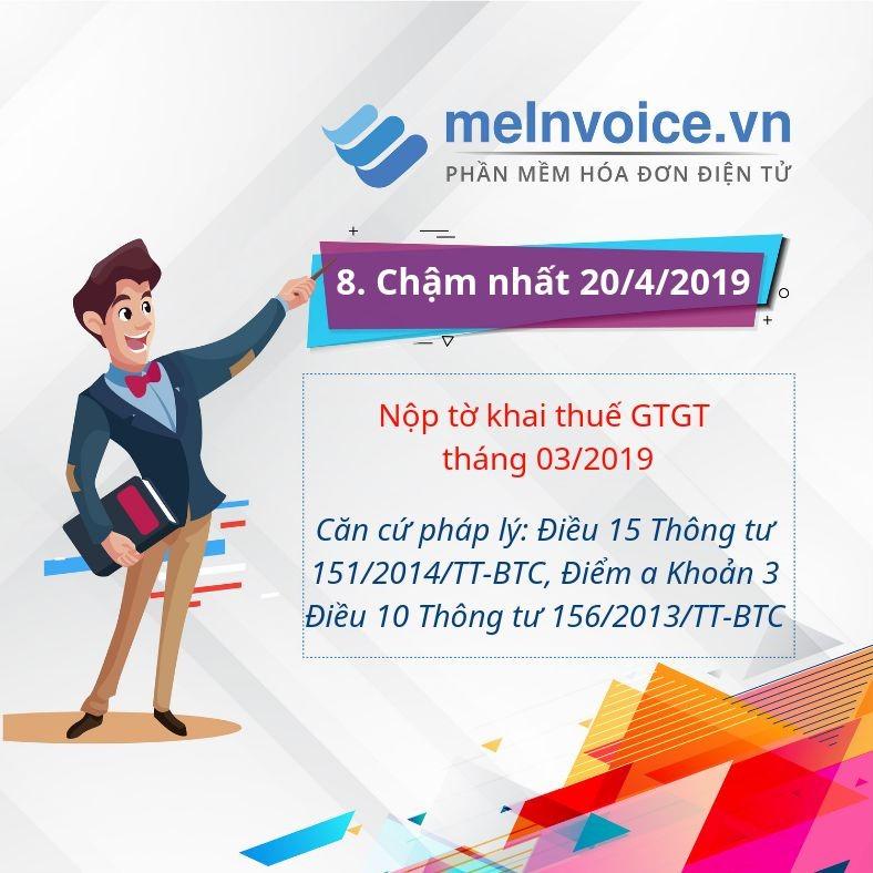 Nộp tờ khai thuế GTGT tháng 03/2019