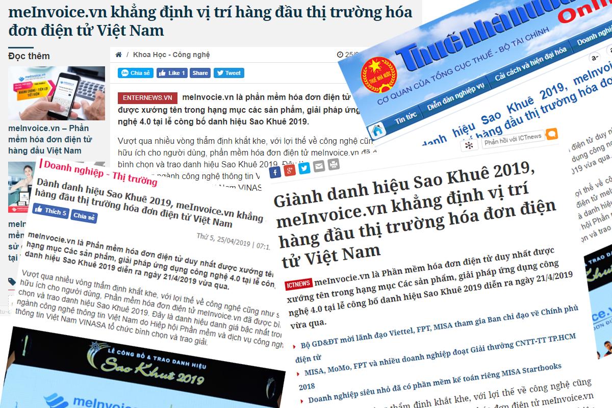 báo chí nói về MISA meInvoice