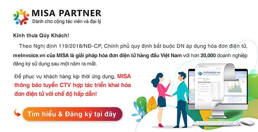 MISA thông báo tuyển cộng tác viên triển khai hóa đơn điện tử