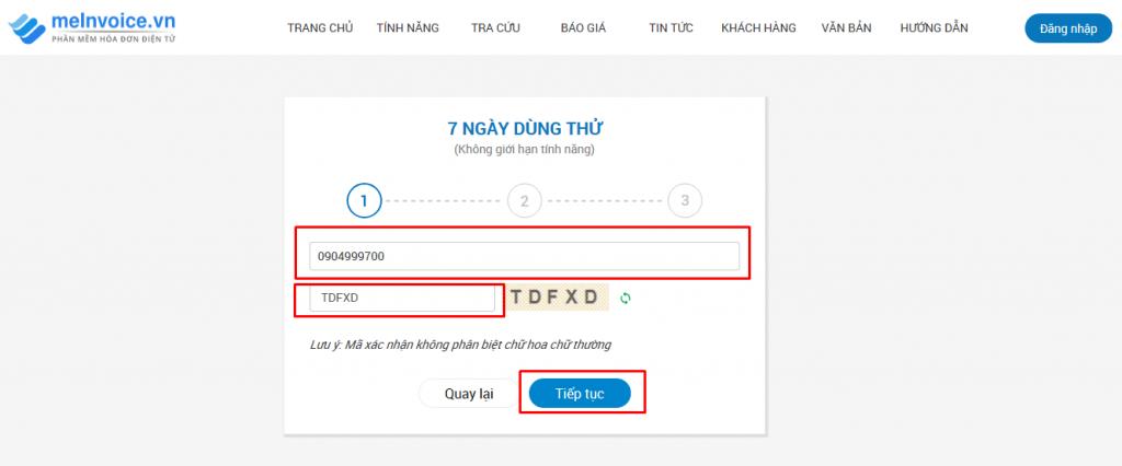 đăng nhập dùng thử