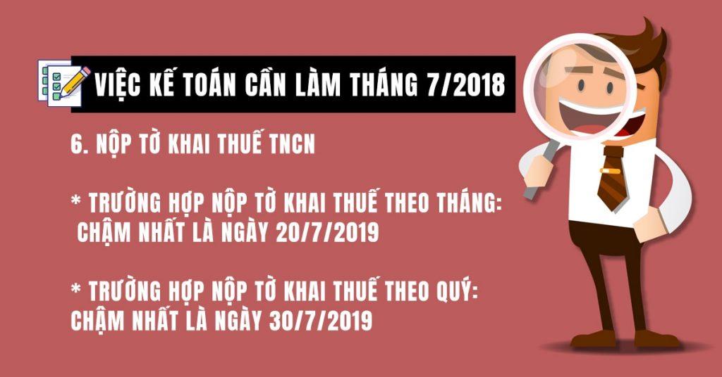 Nộp tờ khai thuế TNCN