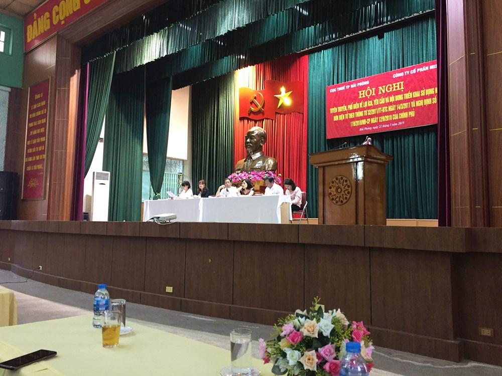 Hội nghị triển khai hóa đơn điện tử tại Cục thuế thành phố Hải Phòng