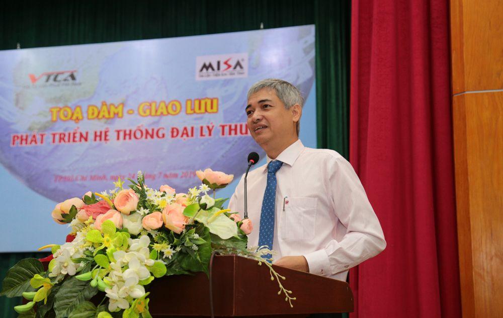 Ông Lê Duy Minh- Phó cục trưởng cục Thuế TP HCM phát biểu tại chương trình