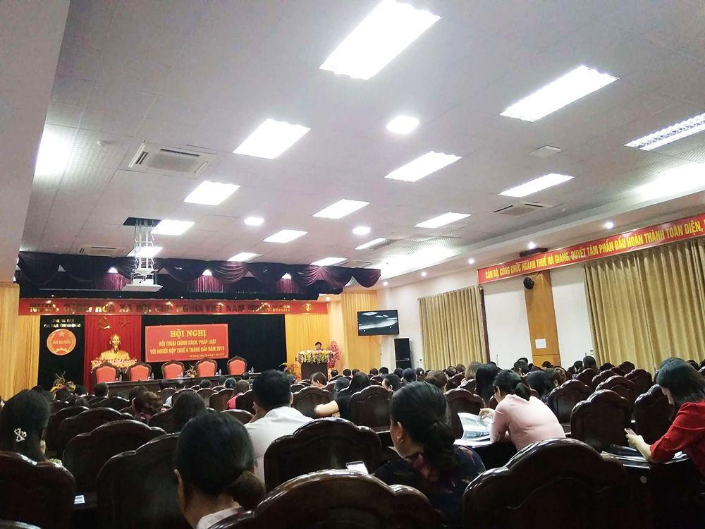 hội nghị thu hút gần 300 kế toán/Chủ doanh nghiệp trên địa bàntỉnh Hà Giang