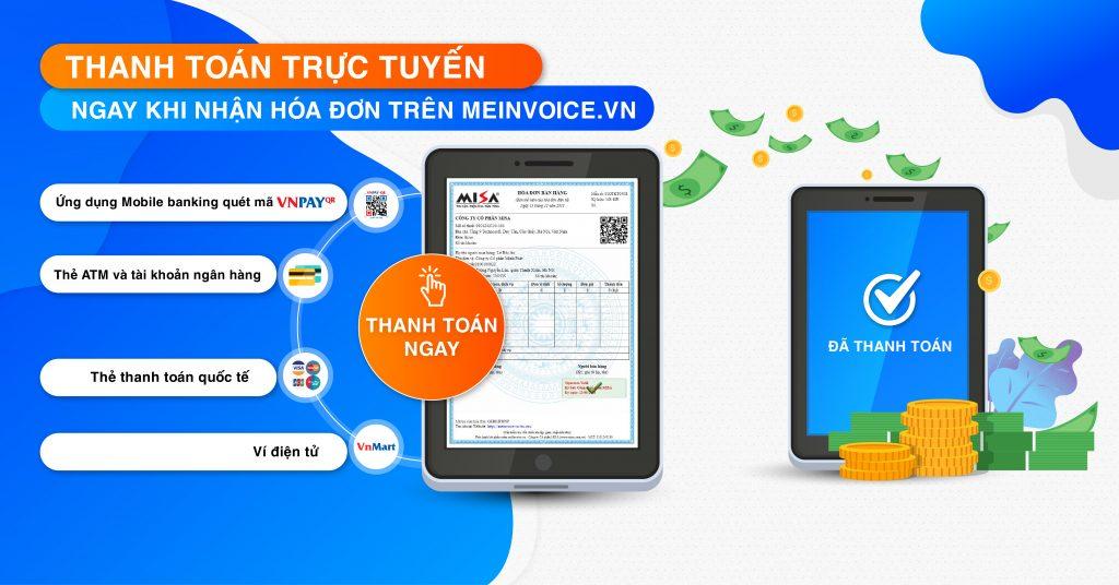 Thanh toán trực tuyến hóa đơn điện tử trên MISA meInvoice