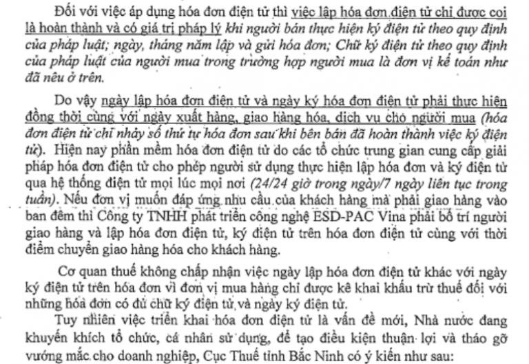Công văn 1596/CT-TTHT của cục thuế Bắc Ninh