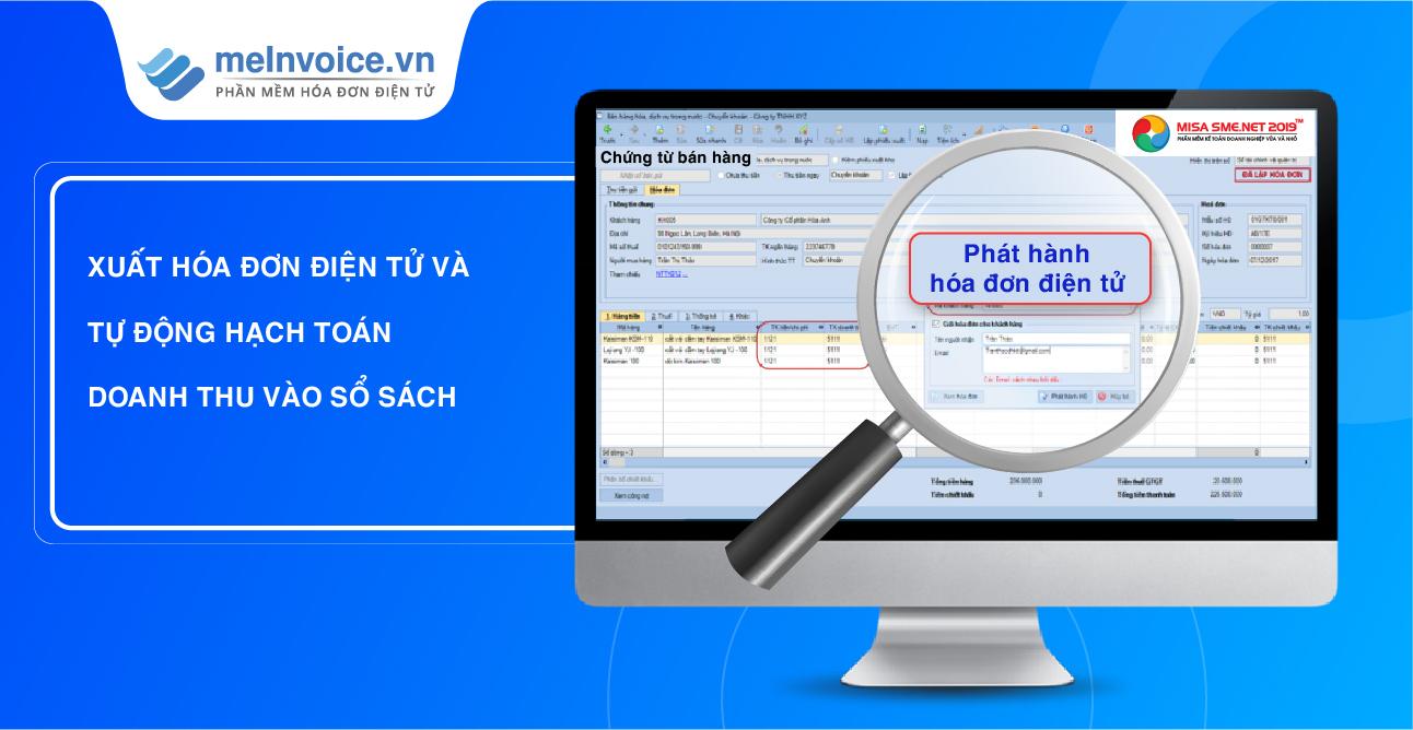 đồng bộ phần mềm kế toán và hóa đơn điện tử