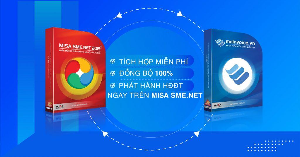 Tích hợp hóa đơn điện tử MISA meInvoice với phần mềm kế toán MISA SME.NET