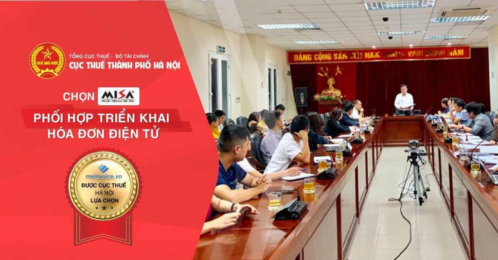 MISA là nhà cung cấp hóa đơn điện tử được cơ quan thuế Hà Nội lựa chọn phối hợp