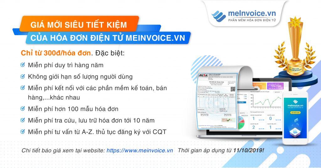 Giá mới siêu tiết kiệm của hóa đơn điện tử MISA