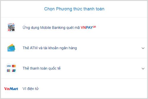 Phương thức thanh toán hóa đơn điện tử trực tuyến