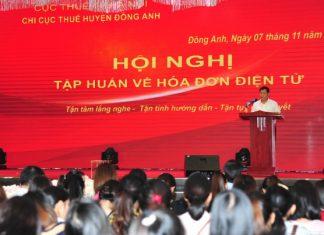 Tập huấn hóa đơn điện tử tại Đông Anh Hà Nội