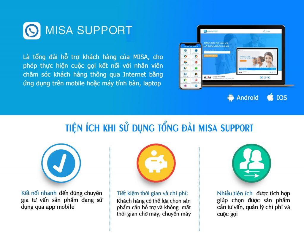 tổng đài MISA Support hỗ trợ khách hàng
