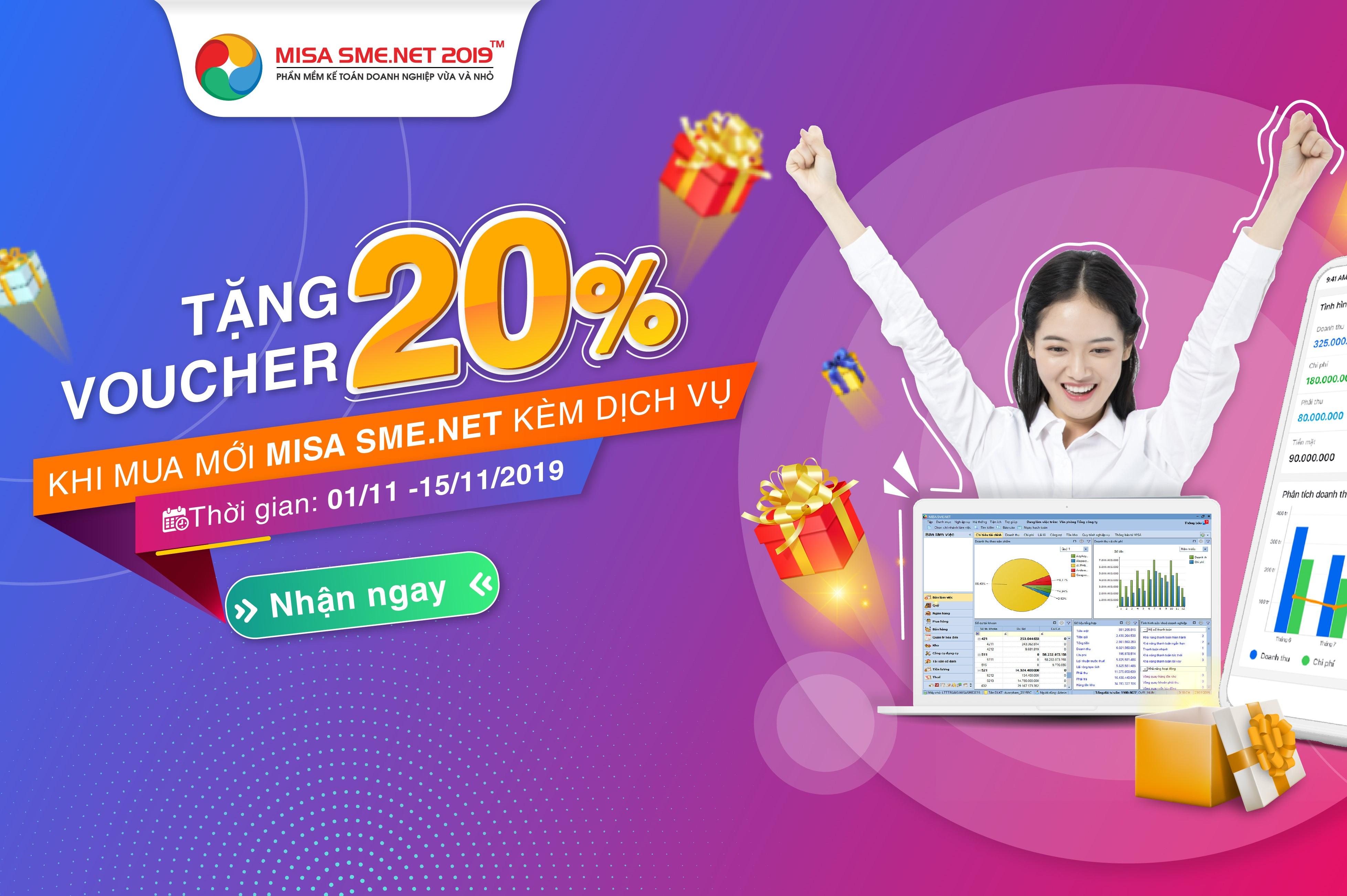 Tặng voucher phần mềm kế toán MISA