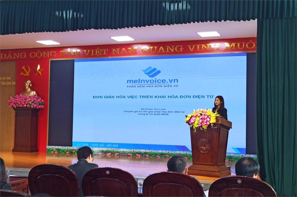 triển khai hóa đơn điện tử tại Lạng Sơn