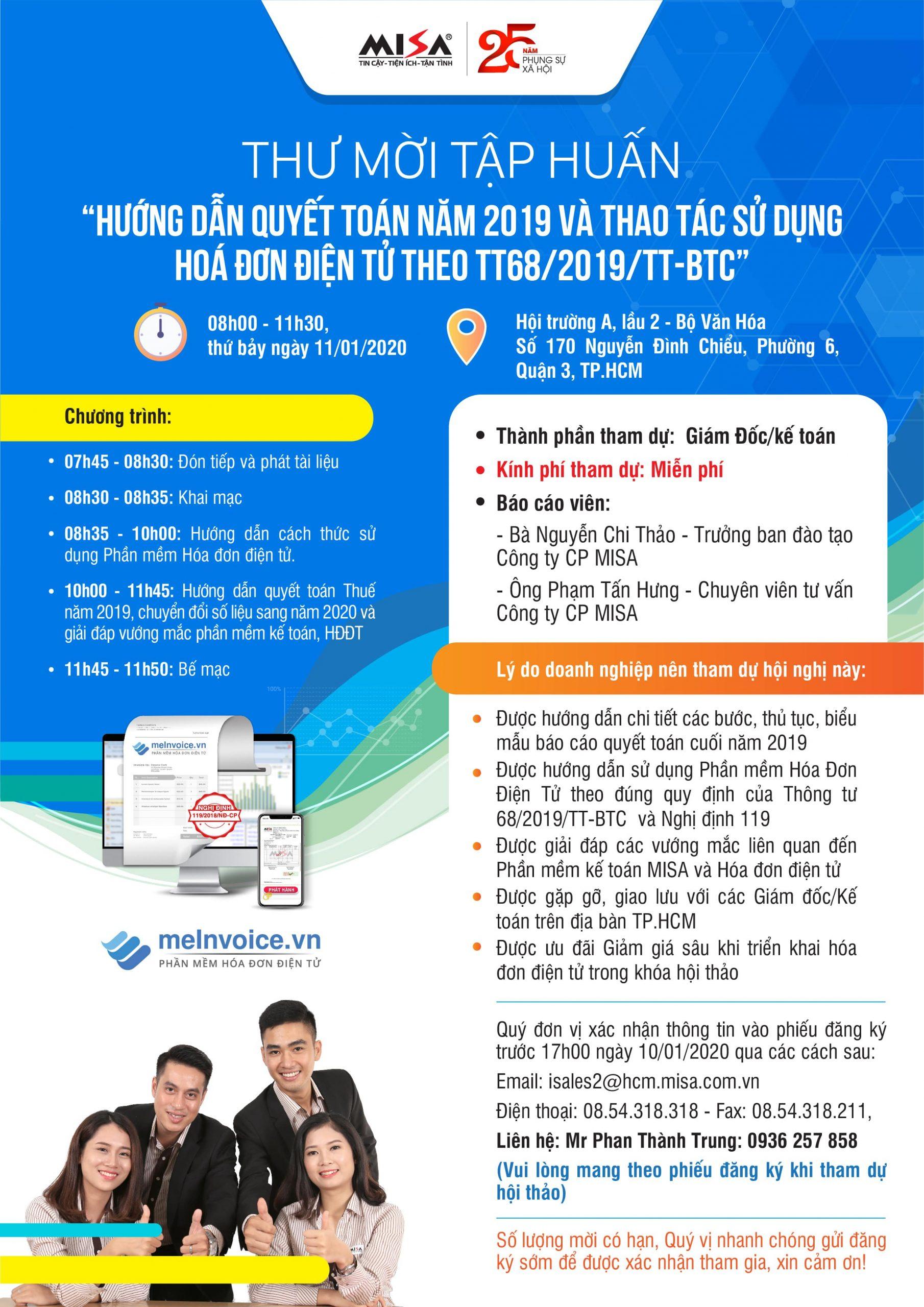 Tập huấn hóa đơn điện tử thông tư 68 tại Hồ Chí Minh