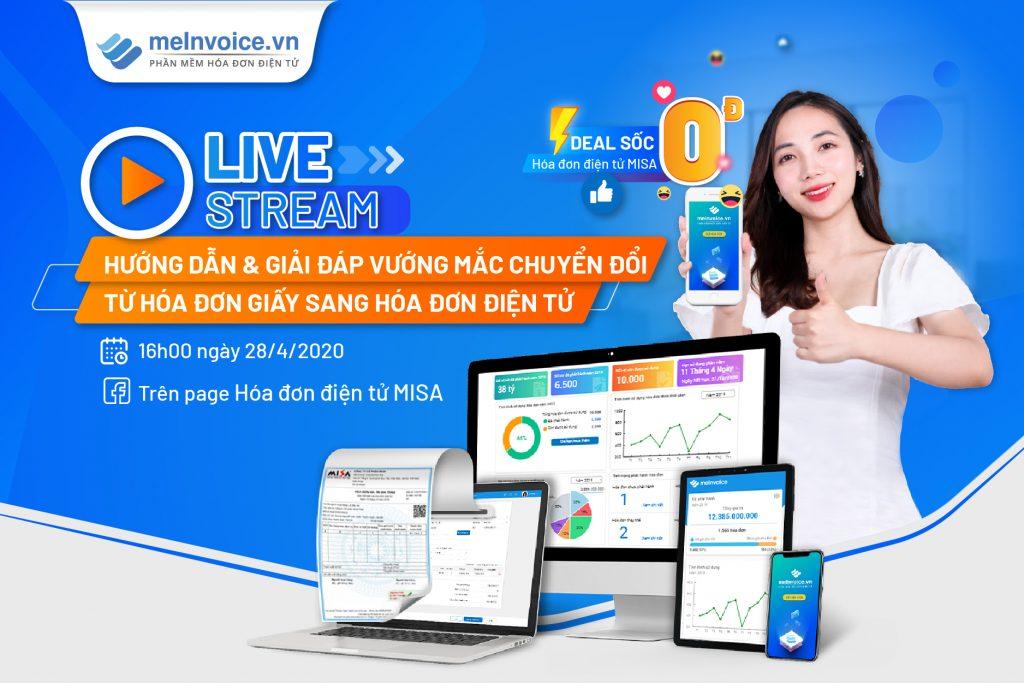 livestream hóa đơn điện tử MISA