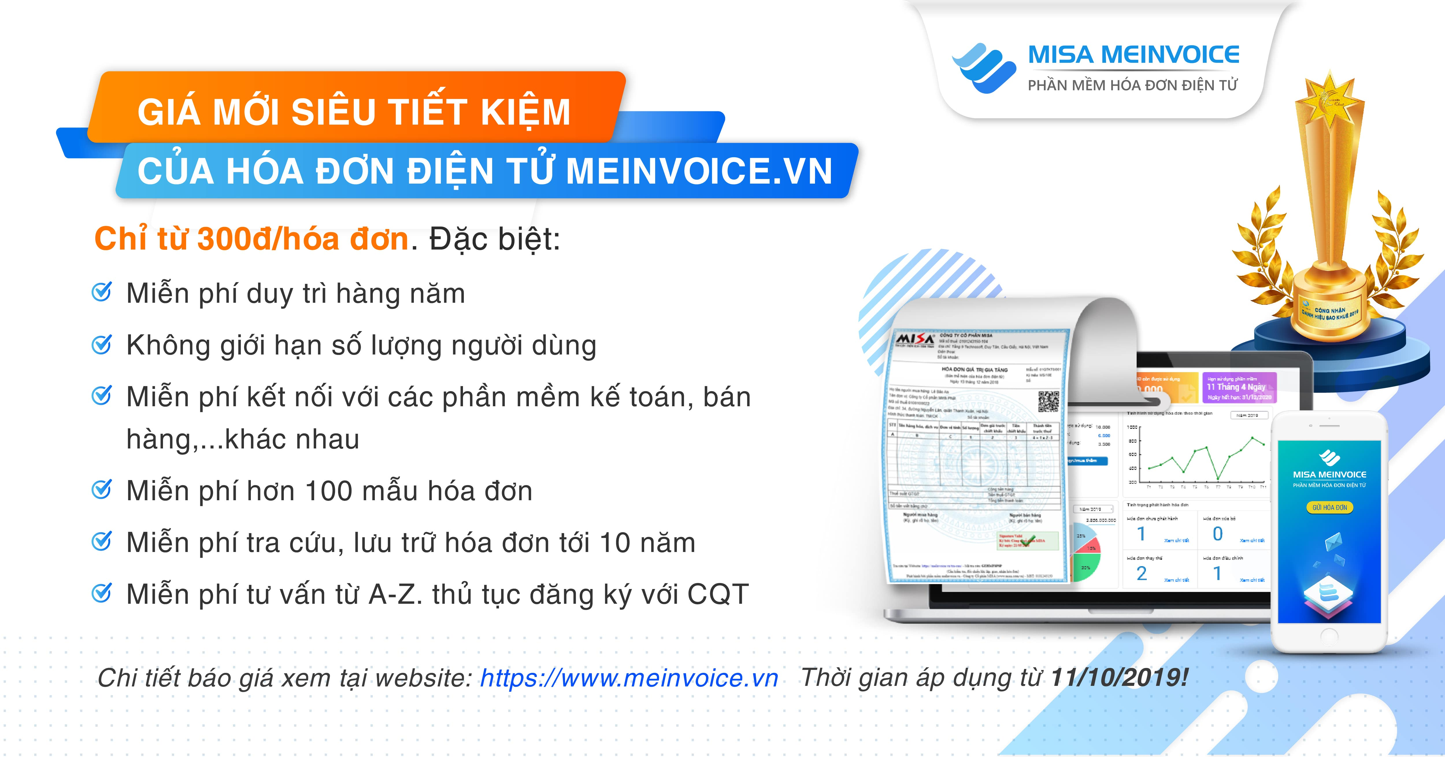 Báo giá hóa đơn điện tử MISA