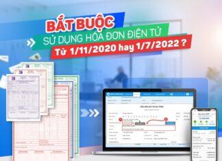 Thời gian áp dụng hóa đơn điện tử