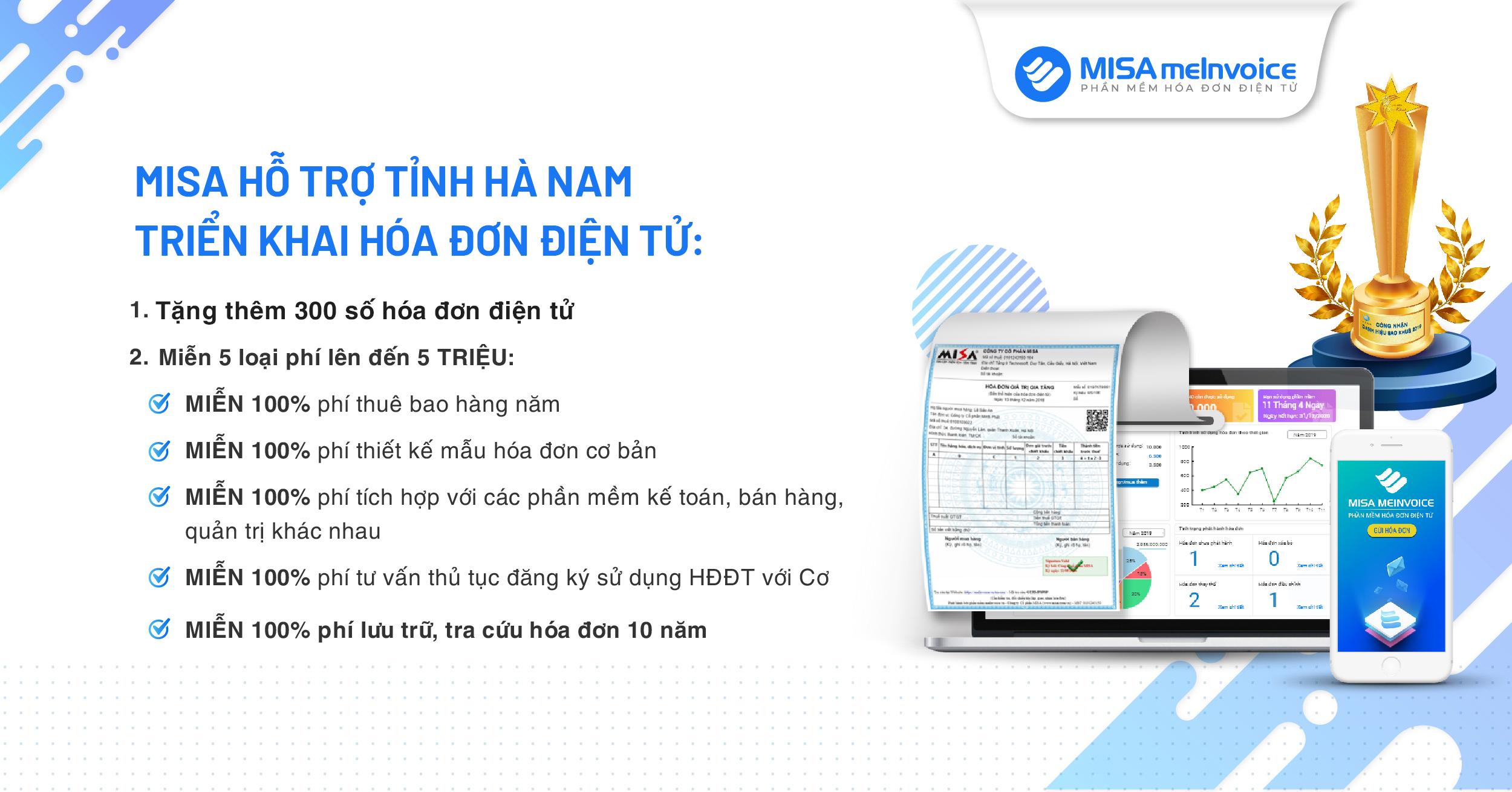 Hóa đơn điện tử tại Hà Nam
