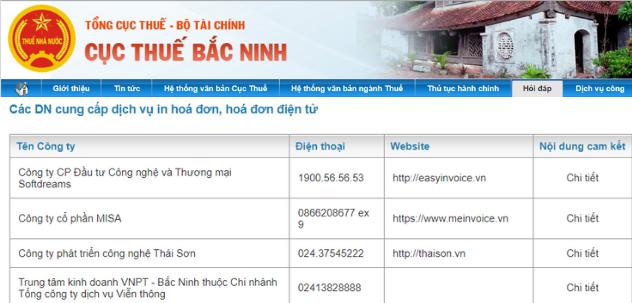 nhà cung cấp hóa đơn điện tử Bắc Ninh